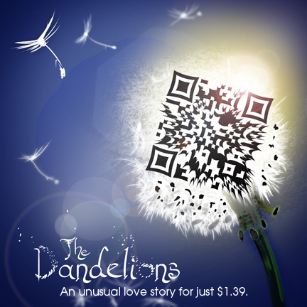 Dandelion QR code alternative with title design.